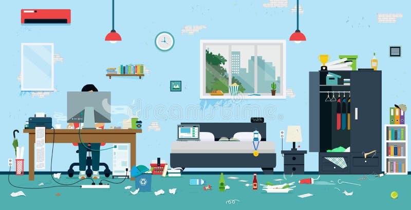 пакостная комната иллюстрация штока