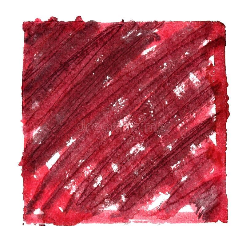 Пакостная красная рамка с shading стоковое изображение rf