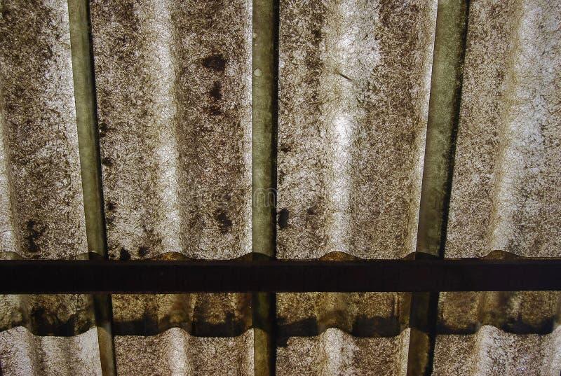 Пакостная предпосылка крыши волокна стоковые фотографии rf