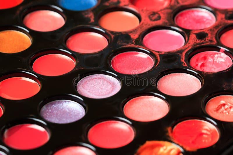 Пакостная профессиональная multicolor палитра стоковое фото rf