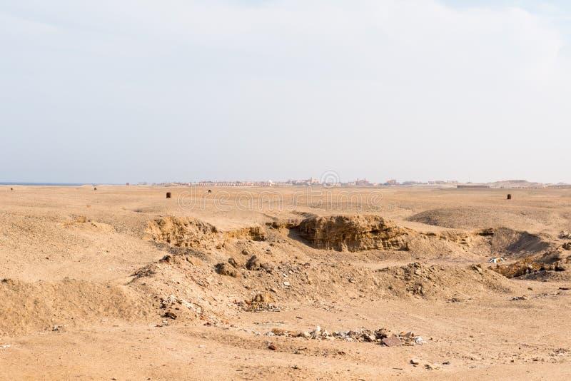 Пакостная пустыня с гостиницой стоковые изображения rf