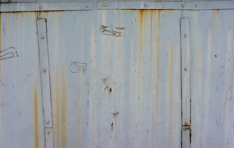 Пакостная, старая поверхность металла Бело-серая текстура grunge конец вверх иллюстрация вектора