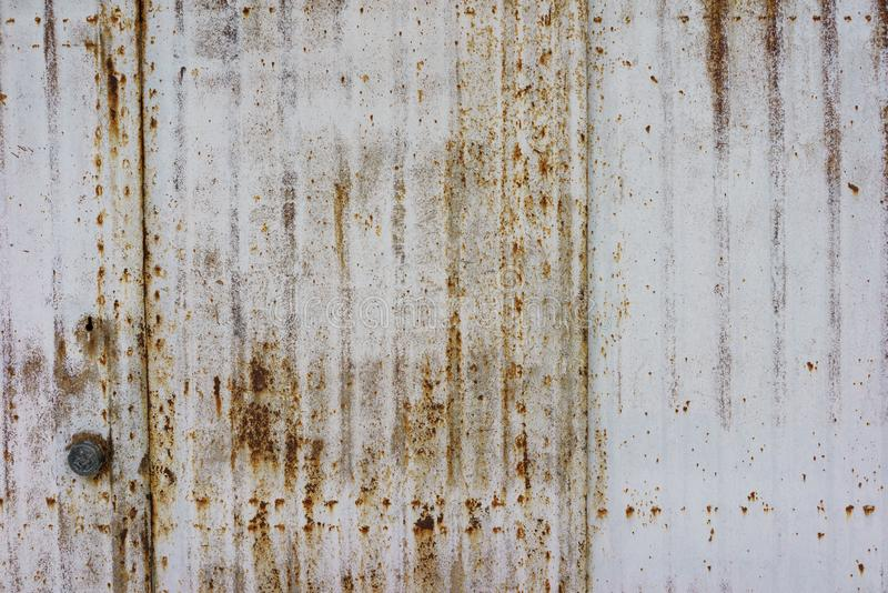 Пакостная, старая поверхность металла Бело-серая текстура grunge конец вверх бесплатная иллюстрация