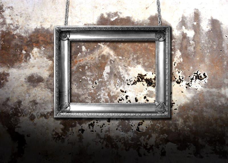 пакостная стена металла стоковые изображения rf
