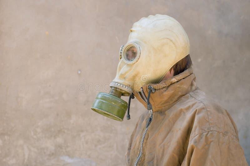 пакостная форма маски человека газа стоковое изображение