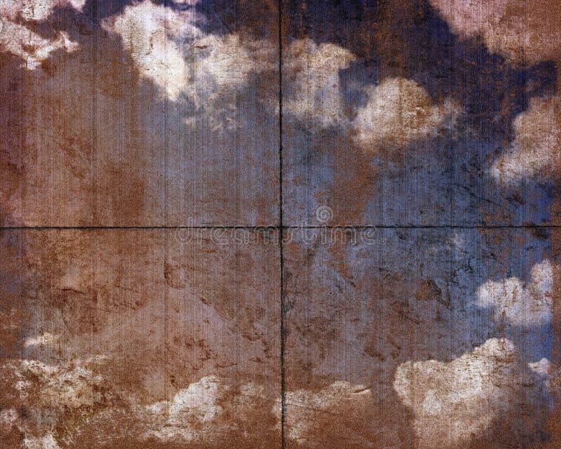 пакостное небо панели стоковое фото rf