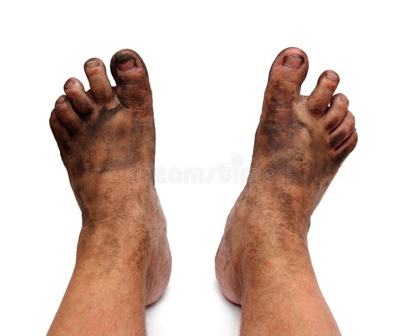 пакостно foots негигиеничное стоковое фото rf