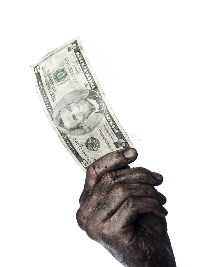 пакостные деньги руки стоковое фото rf
