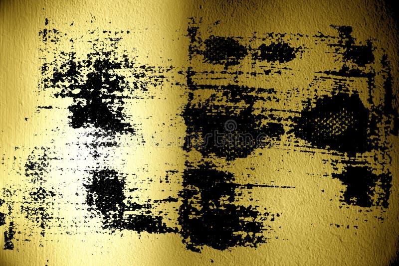 Пакостные запятнанные ультра желтые поверхность гипсолита или стена штукатурки с тенью - внутри помещения предпосылкой иллюстрация вектора