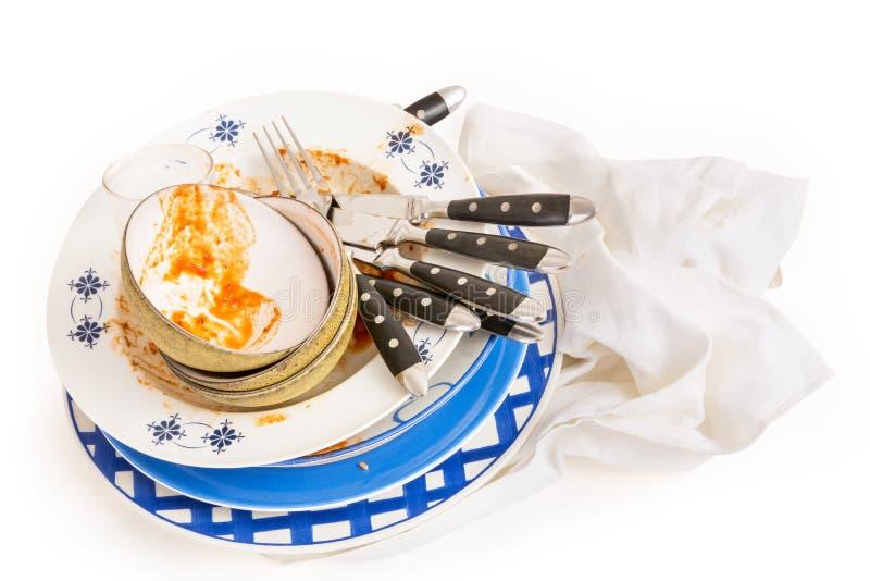 пакостные тарелки стоковое изображение