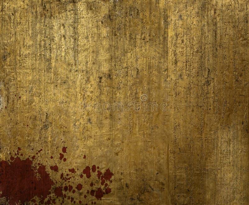 Пакостный лист золота стоковые фотографии rf