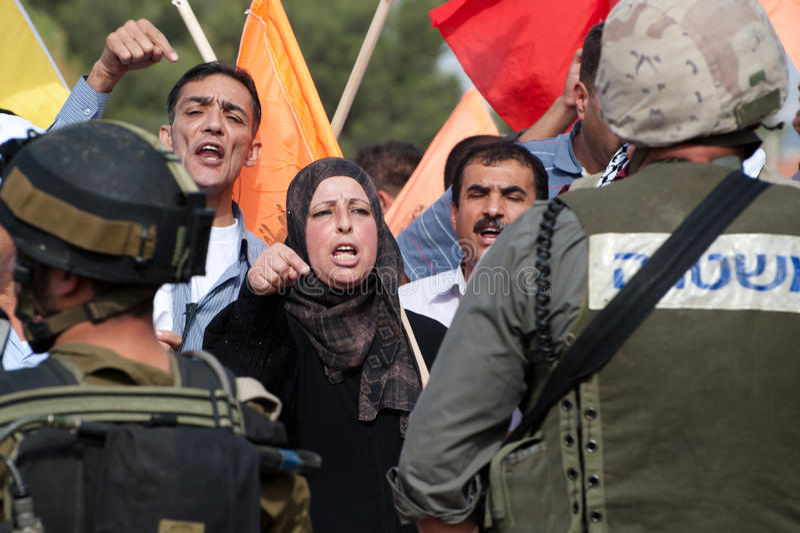 палестинец активизма ненасильственный стоковые фотографии rf