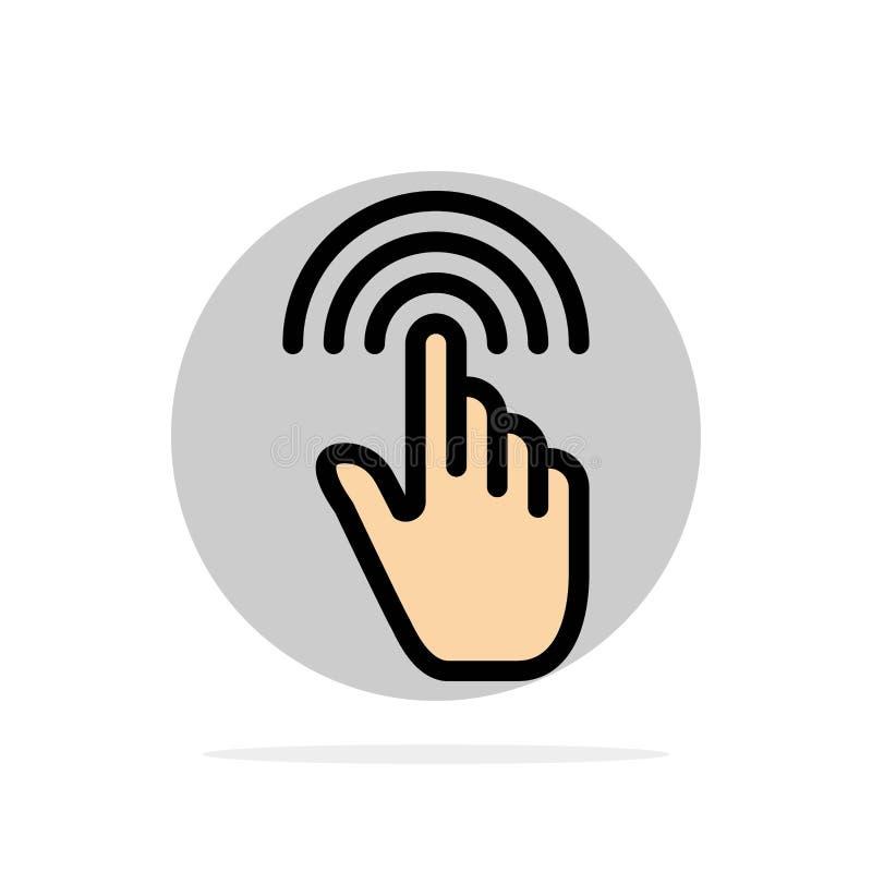Палец, жесты, рука, интерфейс, значок цвета предпосылки круга конспекта крана плоский бесплатная иллюстрация