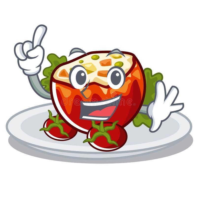 Палец заполнил томаты в форме мультфильма бесплатная иллюстрация