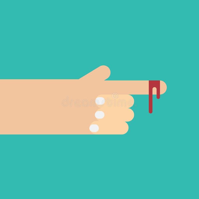 Палец и кровь бесплатная иллюстрация
