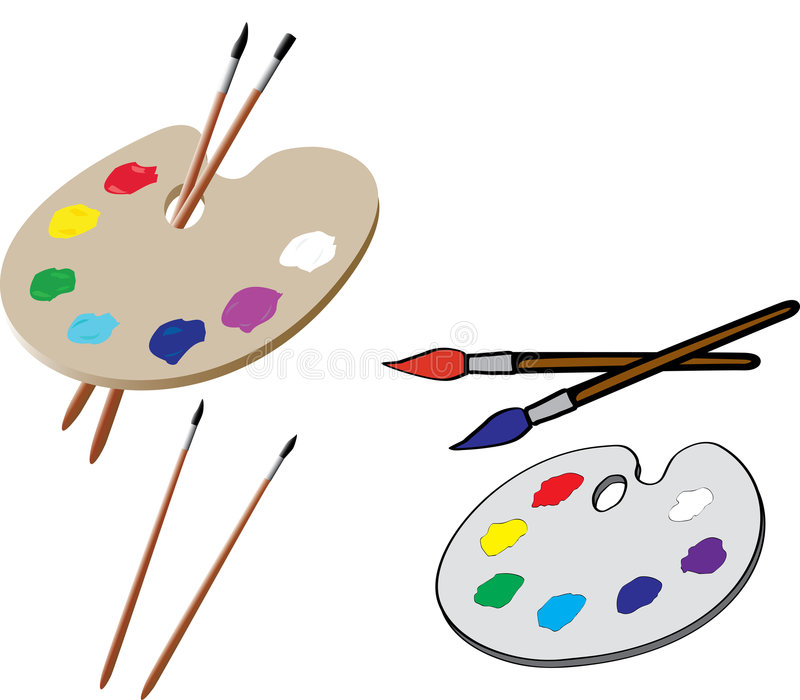 палитра художника иллюстрация вектора