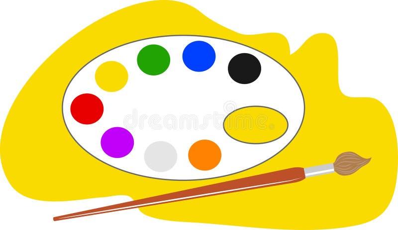 палитра художников иллюстрация вектора