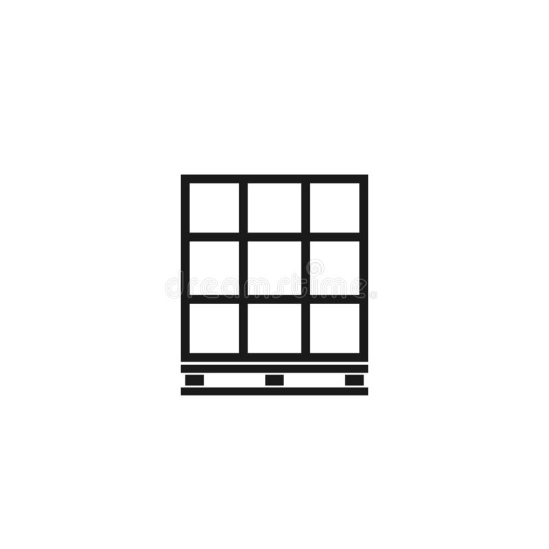 Паллет с значком плана коробок иллюстрация штока