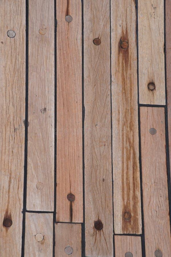 Палуба на корабле Деревянная текстура поверхность brougham стоковое фото rf