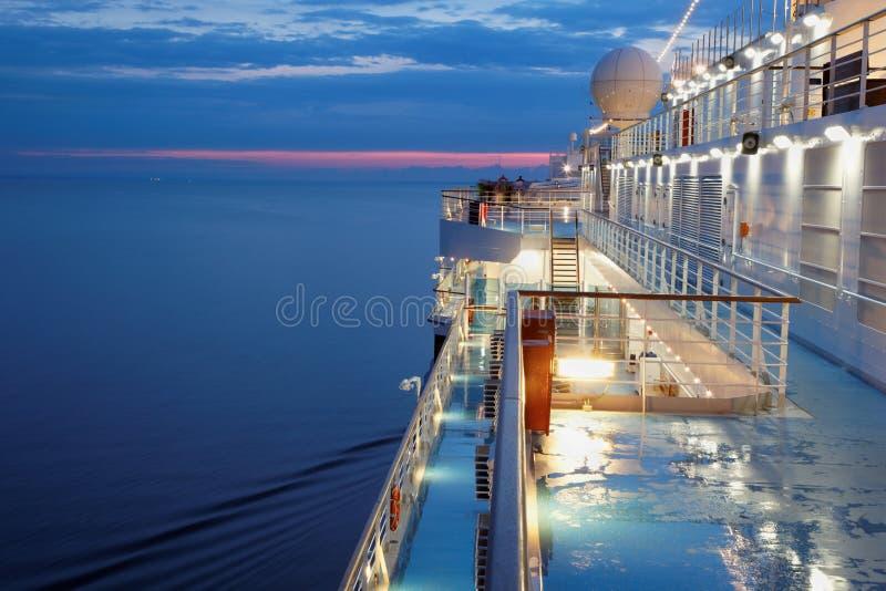 Палуба multidecked корабля стоковые фотографии rf