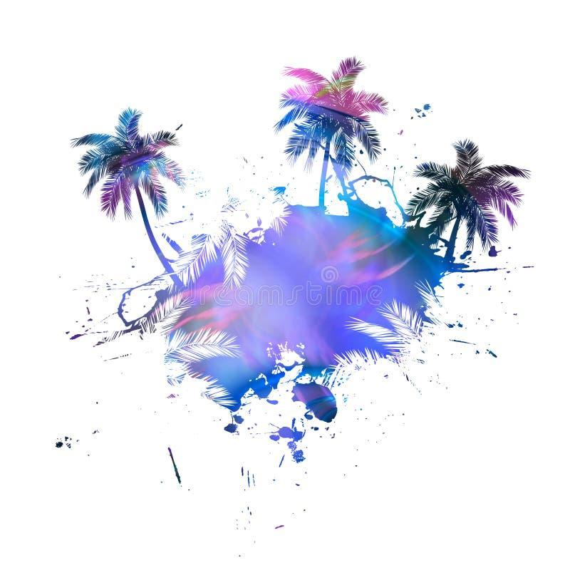 пальмы grunge бесплатная иллюстрация