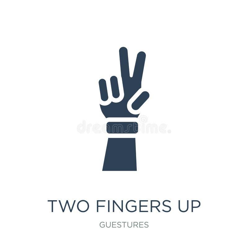2 пальца вверх по значку в ультрамодном стиле дизайна 2 пальца вверх по значку изолированному на белой предпосылке 2 пальца вверх бесплатная иллюстрация