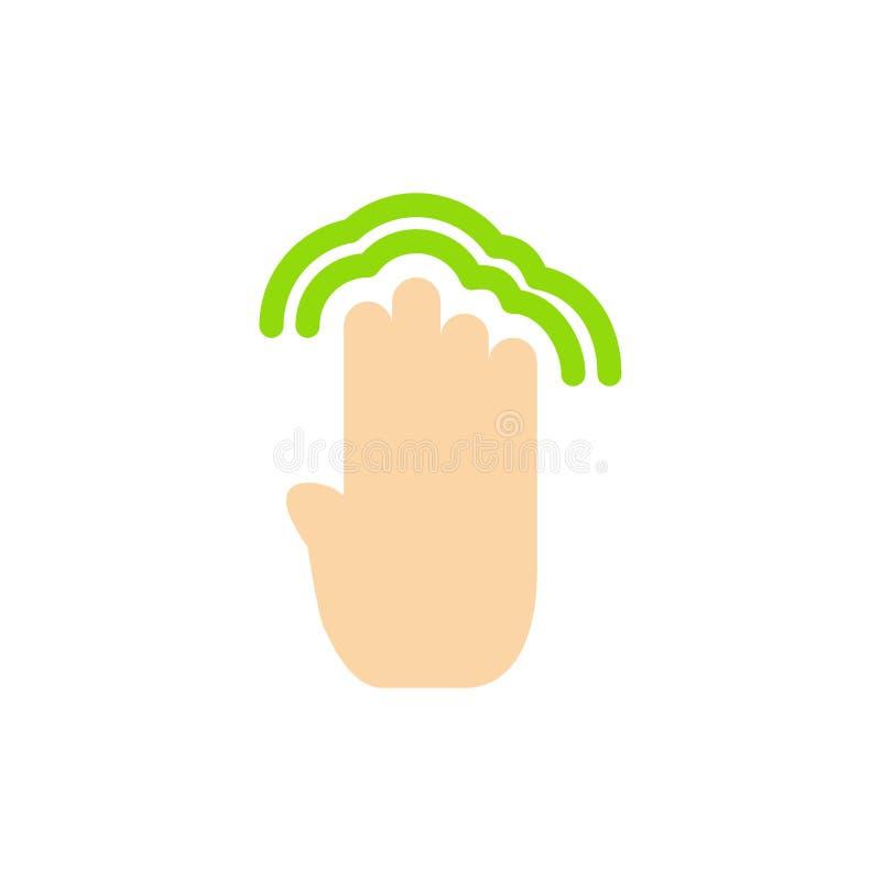 Пальцы, 4, жесты, интерфейс, значок цвета множественного крана плоский Шаблон знамени значка вектора бесплатная иллюстрация