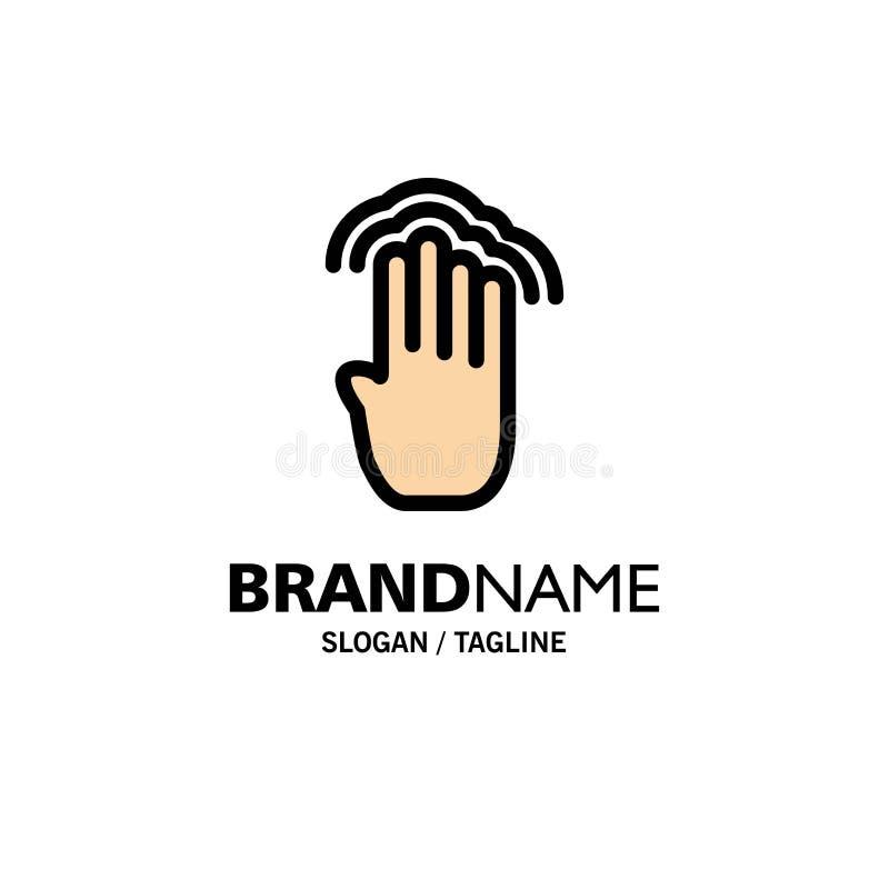 Пальцы, 4, жесты, интерфейс, множественный шаблон логотипа дела крана r бесплатная иллюстрация