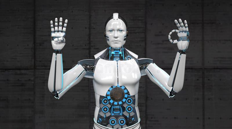 Пальцы 40 робота иллюстрация штока