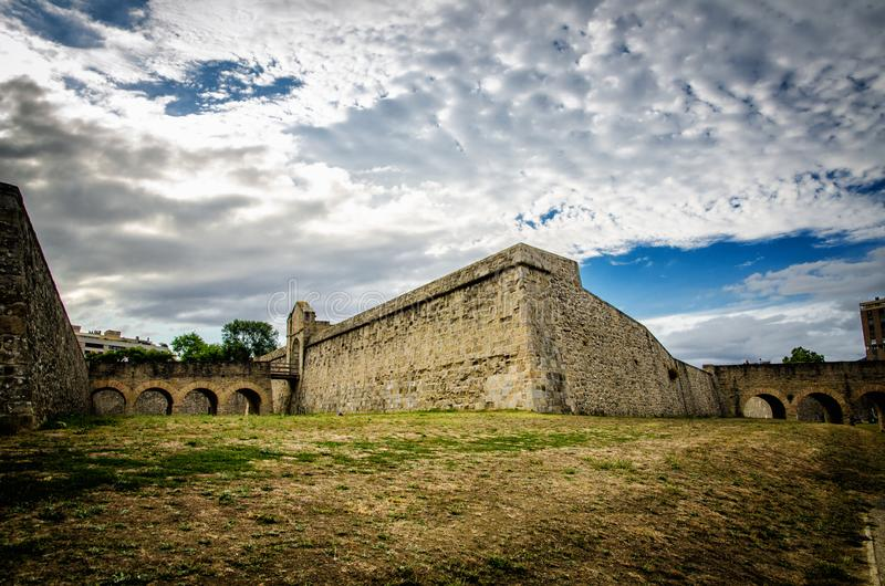 Памплона - столица Королевства Наварре, популярная испанская туристическая достопримечательность стоковое фото