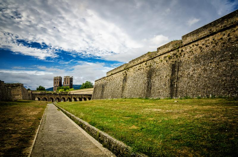 Памплона - столица Королевства Наварре, популярная испанская туристическая достопримечательность стоковые изображения rf