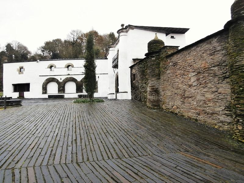 Памятники в пути St James В Галиции северо-западной Испании стоковое фото rf