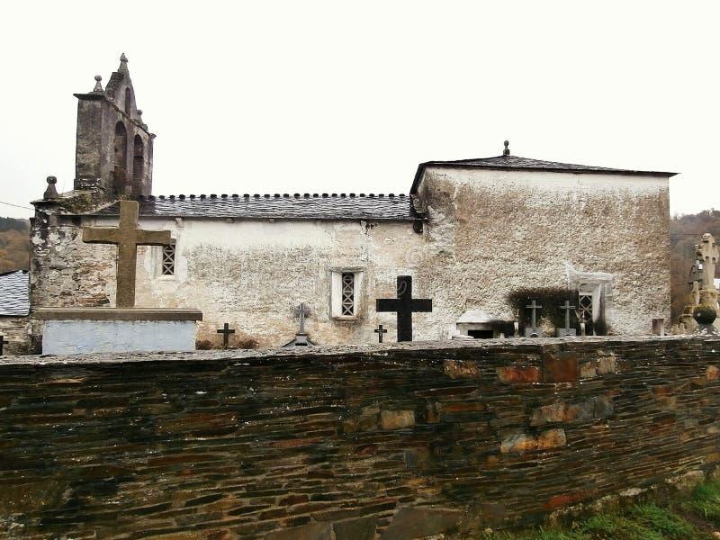 Памятники в пути St James В Галиции северо-западной Испании стоковые изображения