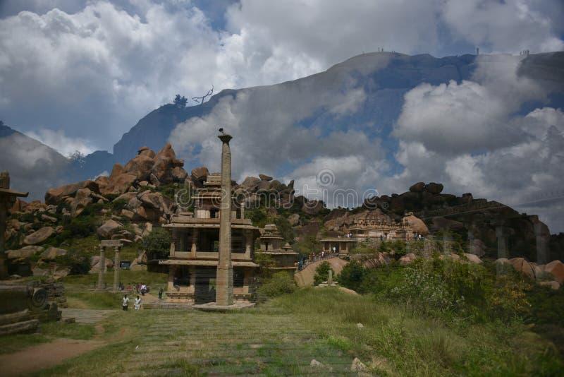 Памятники форта Chitradurga и руины, Karnataka стоковая фотография rf