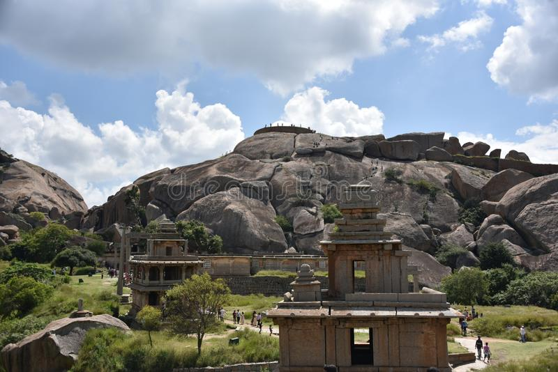 Памятники форта Chitradurga и руины, Karnataka стоковое изображение