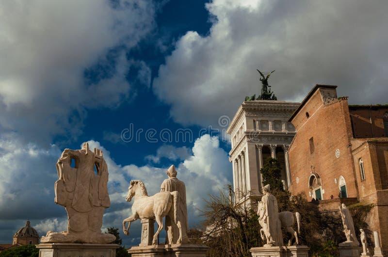 Памятники холма Capitoline стоковое изображение rf