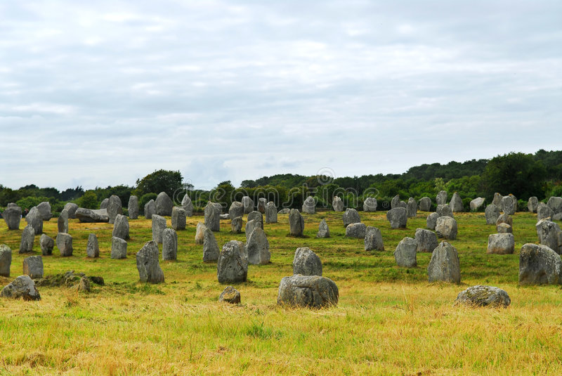 памятники brittany megalithic стоковое фото