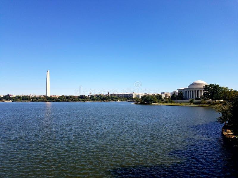 Памятники DC стоковое изображение rf