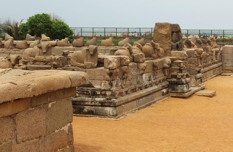 Памятники Mahabalipuram стоковое изображение