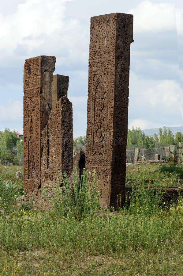 Памятники Seljuk монументальные потерянных солдат на сражении Malazgit стоковые фотографии rf