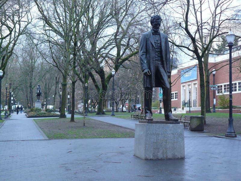 памятник Абраюам Линчолн стоковое изображение