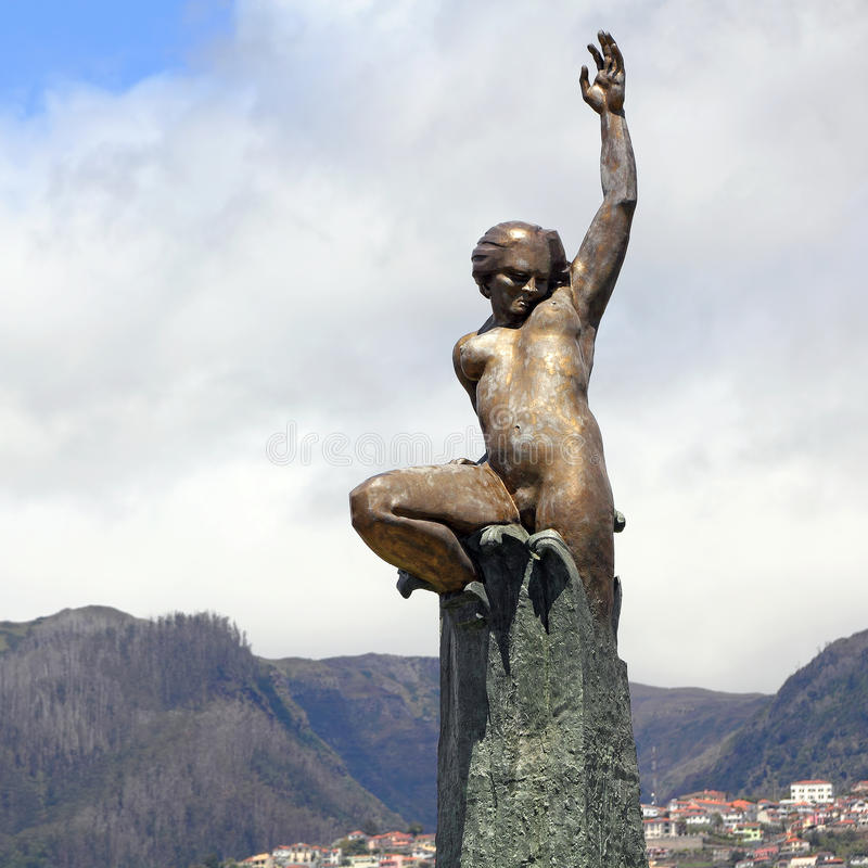 Памятник автономии Мадейры в Фуншале стоковая фотография