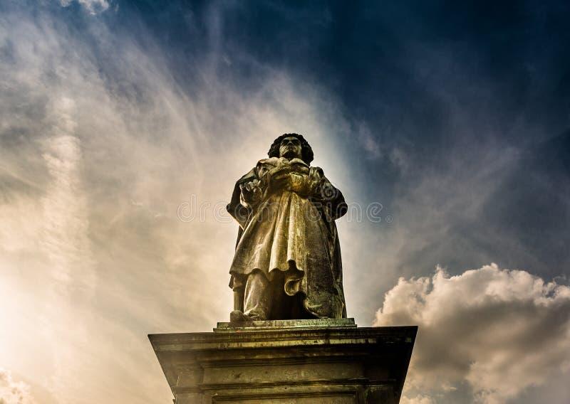 Памятник Бетховен в Бонне, Германии Оно было раскрыто 12-ого августа 1845 стоковое фото rf