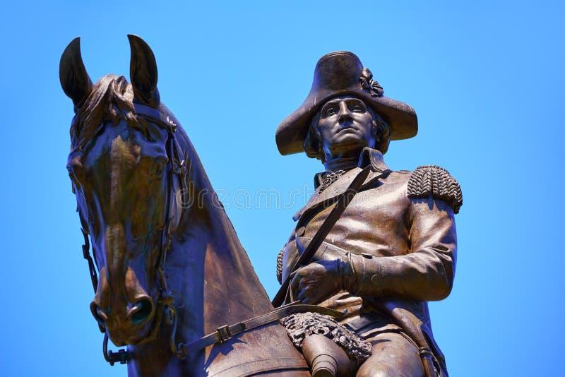 Памятник Бостона общий Джорджа Вашингтона стоковая фотография