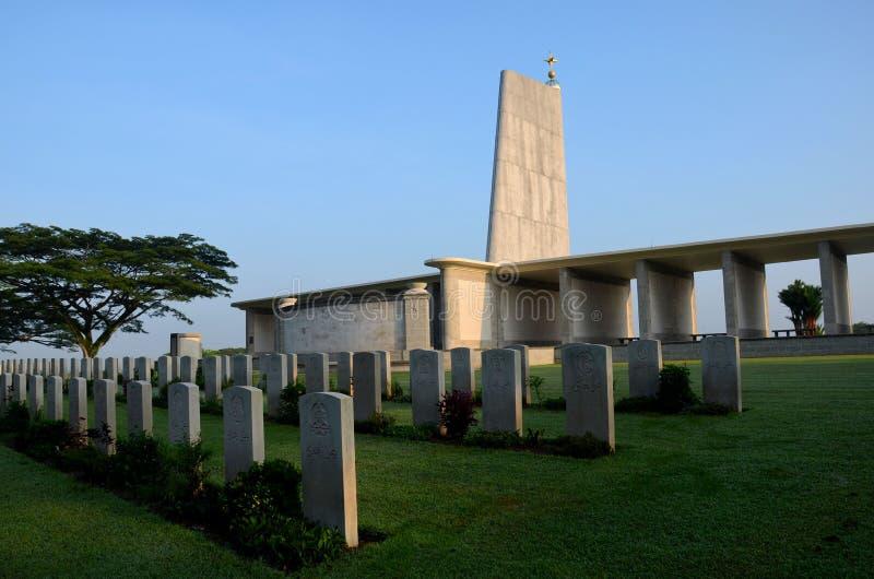 Памятник военного мемориала государства Kranji и могильные камни Сингапур стоковое изображение rf