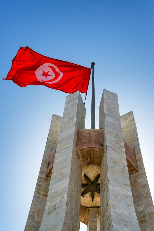 Памятник в квадрате Kasbah в Тунисе стоковые изображения rf