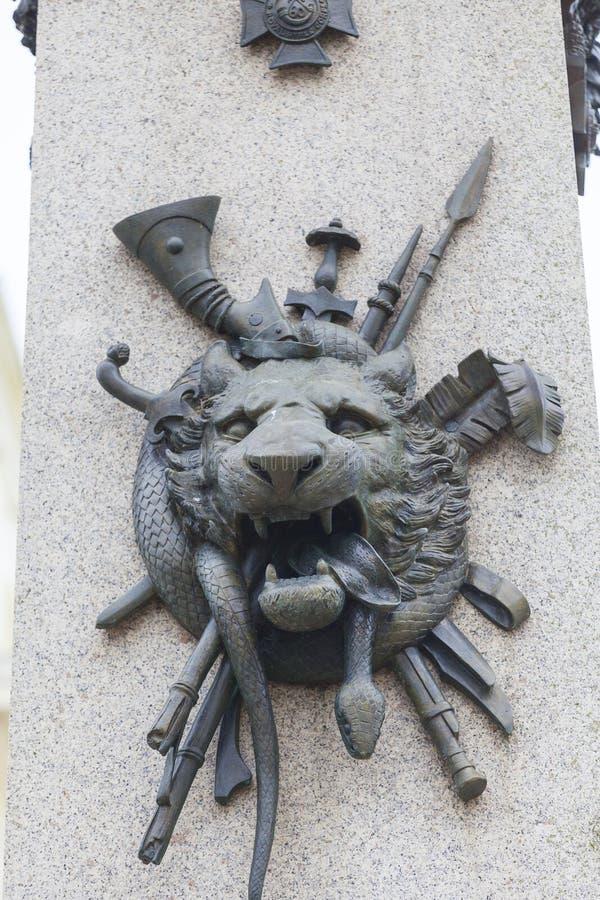 Памятник в памяти о товарищах которые упали во время индийских кампаний в XIX веке, Дувр, Великобритания стоковая фотография
