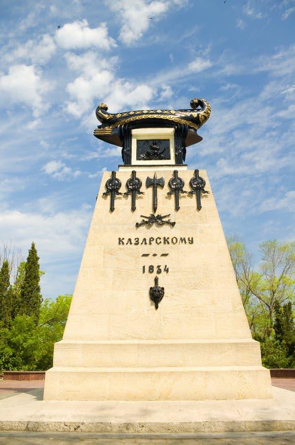 Памятник в Севастополе стоковые изображения