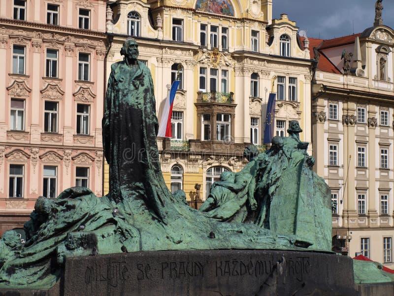 Памятник Джона Hus стоковая фотография rf