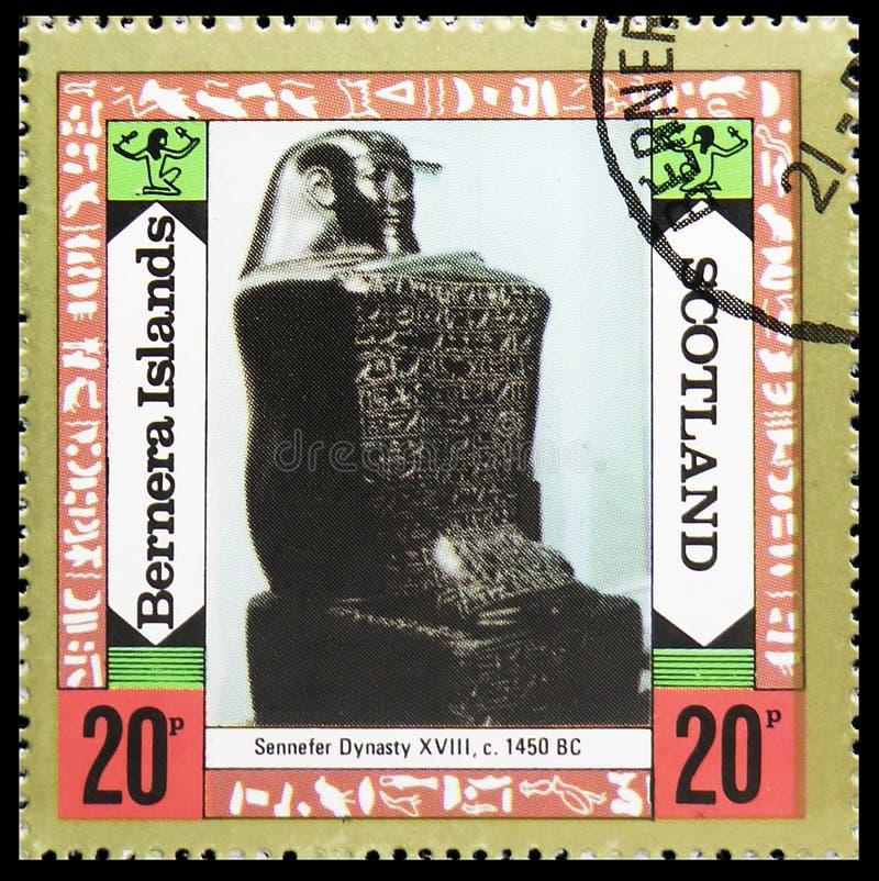 Памятник династии Sennefer, острова Bernera, serie Staffa Шотландии, около 1980 стоковые изображения rf